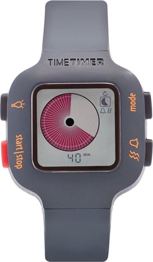 bol com | Time Timer Watch Plus - Kindermaat donkergrijs