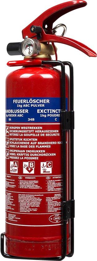 Smartwares BB1 - Brandblusser - Poeder - Inclusief ophangbeugel -Brandklasse ABC - 1kg