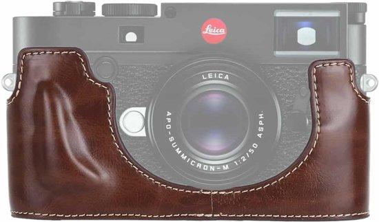 1/4 inch draad PU lederen camera half behuizing basis voor Leica M10 (koffie)