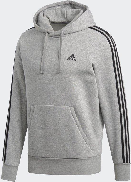 6ffdf5341f2 adidas Essentials 3Stripes P/O B Sweater Heren - Medium Grey Heather/Black