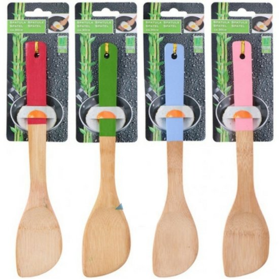 Spatel hout | 1 stuk | Spatel bamboe | bamboe producten | Keukengerei | Keukengadgets