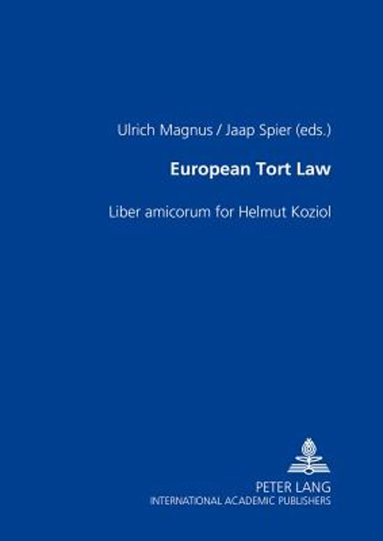 Boek cover European Tort Law van  (Hardcover)
