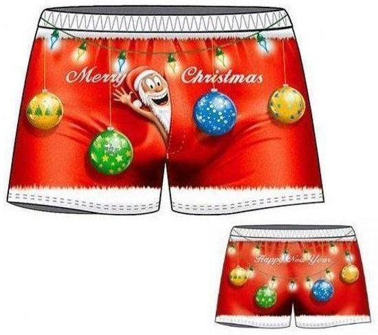 Bol Com Kerstmis Sexy Leuke Grappige Mooie Boxershort Benza