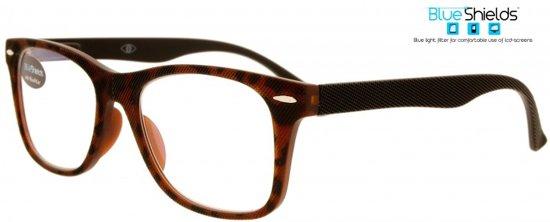 dcb65c25b90930 Icon Eyewear TFD313 +1.00 The Grid BlueShields leesbril - Blauw licht  filter lens - Tortoise