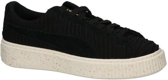Puma Basket Platform Zwarte Lage Sneakers