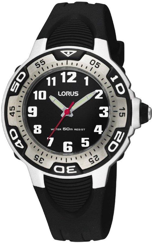 Lorus Rg233Gx9 - Horloge - Siliconen - 35 mm - Zwart
