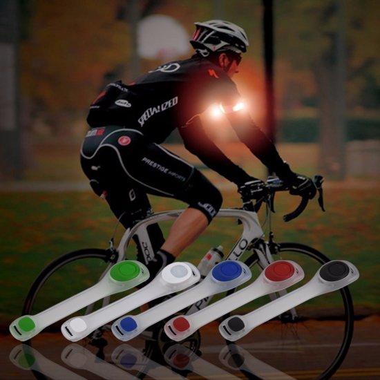 sport armband led hardloop fiets met led reflecterende hardloop verlichting lampjes rood