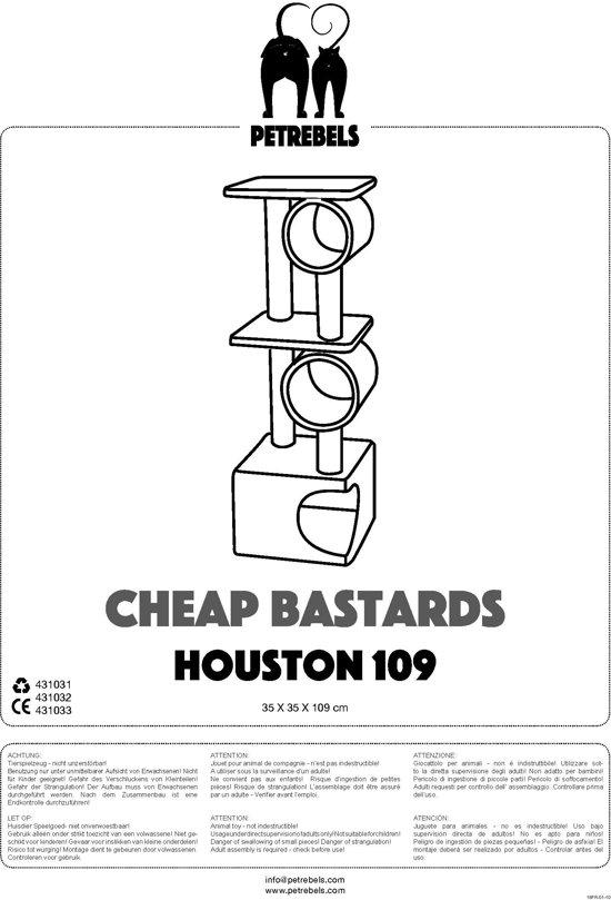 Petrebels Krabpaal Cheap Bastard Houston Chocolade Bruin - 35X35X109 CM