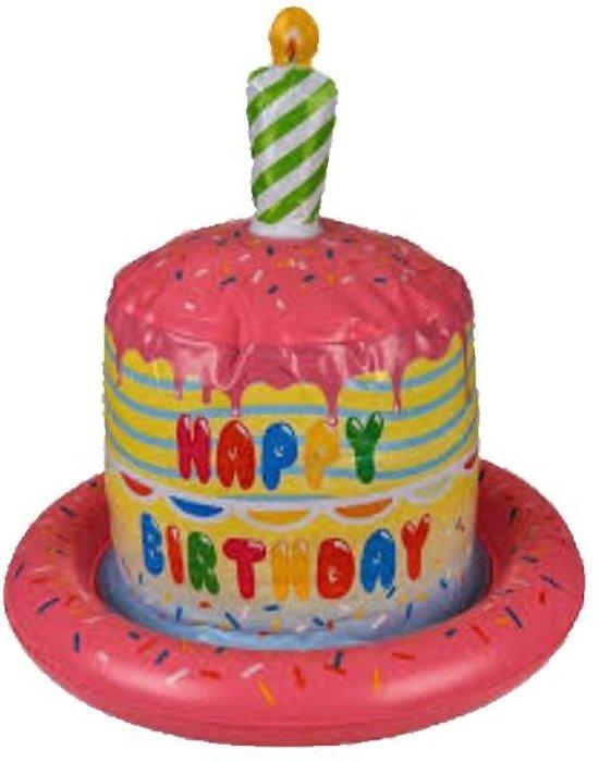 Fabulous Bol Com Hoed Roze Opblaashoed Happy Birthday Cake Birthday Cards Printable Benkemecafe Filternl