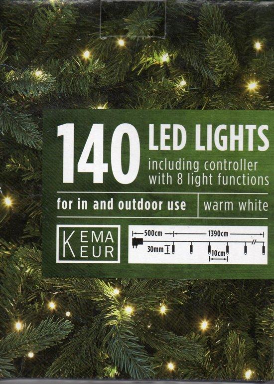 140 leds kerst verlichting met controller voor 8 brand functies