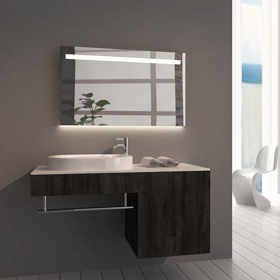 Badkamerspiegel Ambi 100x60cm Geintegreerde LED Verlichting Verwarming Anti Condens met Lichtschakelaar