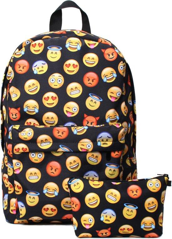 a8c626dc0f8 bol.com | Emoji rugzak incl etui - 42 cm hoog - Zwart