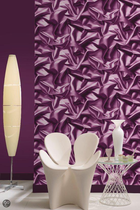 Dutch wallcoverings zijde paars - Wallpaper volwassen kamer trendy ...