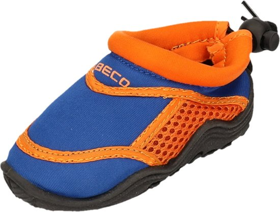 Beco Neopreen Waterschoenen - surfschoenen - Kinderen - Neopreen - Blauw/oranje - 32