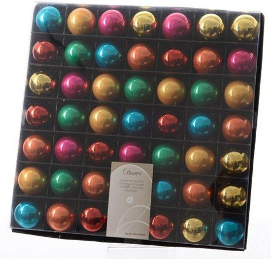 Verwonderend bol.com | Mini kerstballen gekleurd 49 stuks 3 cm FU-14