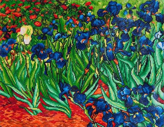 Needle Art Irises Van Gogh Diamond Painting 71x56 cm
