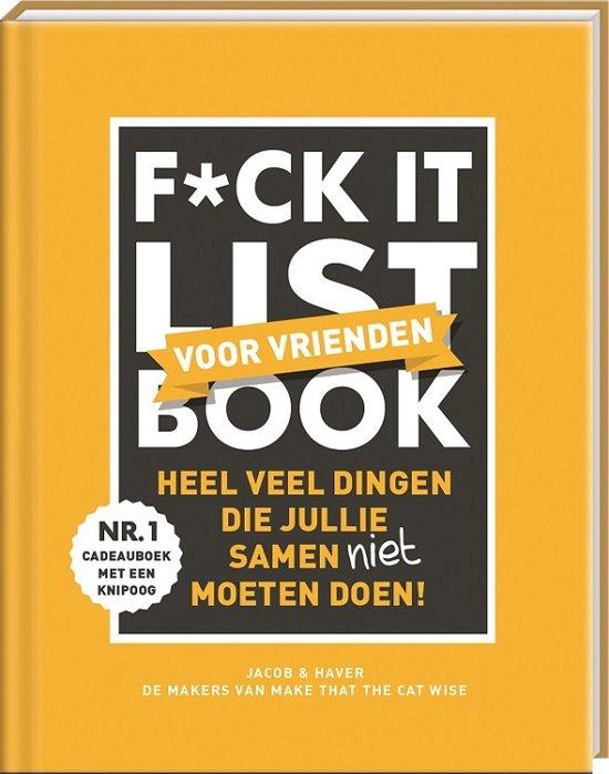 Boek cover Fuck-it list book voor vrienden van Jacob & Haver (Hardcover)