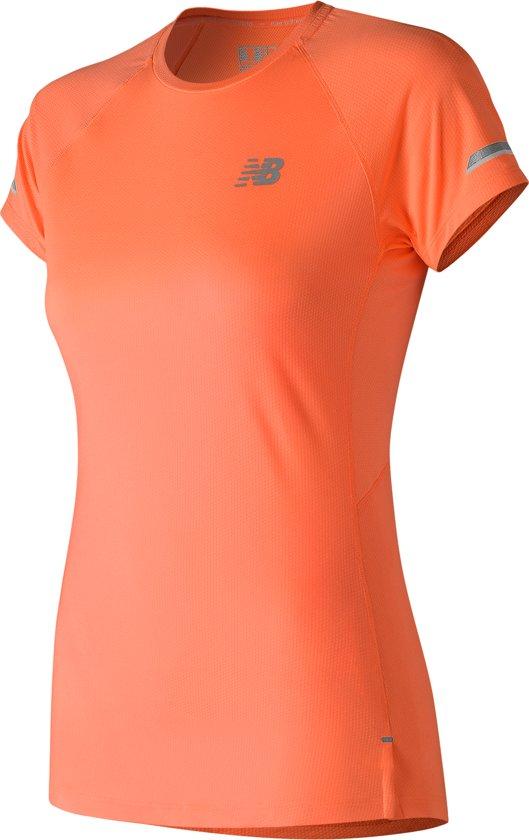 New Balance Ice Ss Sportshirt Dames - Orange