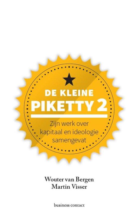 Boek cover Kleine boekjes - grote inzichten 1 - De kleine Piketty 2 van Wouter van Bergen (Hardcover)