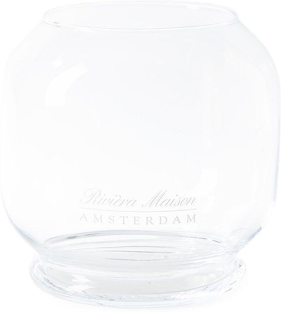 Riviera Maison - RM Amsterdam Hurricane M - Windlicht - Transparant - Glas