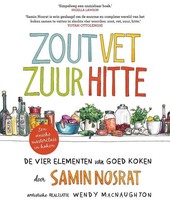 Boek cover Zout, vet, zuur, hitte van Samin Nosrat (Paperback)