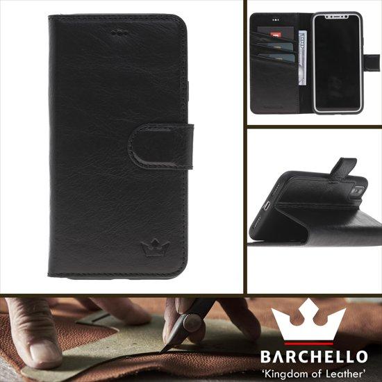57a13e7cd09 bol.com   Barchello Lederen Apple iPhone X / Xs Hoesje - Book Case ...