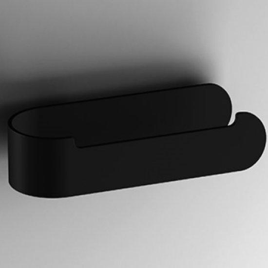 Toiletrolhouder S5 mat zwart