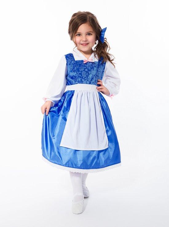 Blauwe Belle jurk - maat 128/140