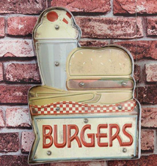 Retro Led Sign Burgers