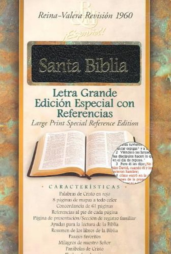 bol.com | Bible Rvr 1960 L/P Spec Ref Blk T/I, Bible | 9781558198333 ...