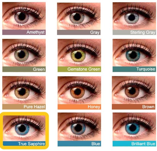 gekleurde contactlenzen