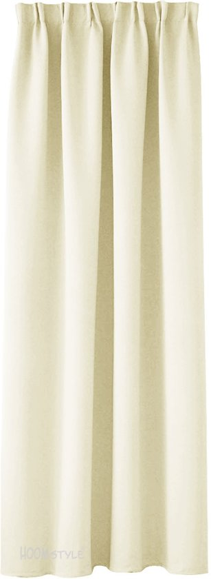 verduisterend kant en klaar gordijn new horizon ivoor met plooiband en haken