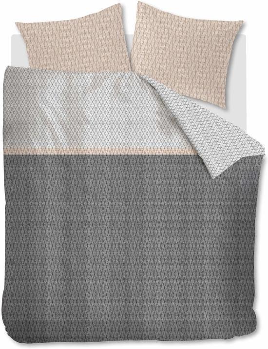 Beddinghouse Diamante - Dekbedovertrek - Eenpersoons - 140x200/220 cm - Grijs