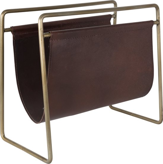 dutchbone scholar tijdschriftenrek bruin. Black Bedroom Furniture Sets. Home Design Ideas