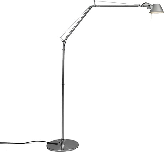 Artemide Tolomeo Vloerlamp.Artemide Tolomeo Verstelbare Vloerlamp 1 Lichts H 1830 Mm Aluminium