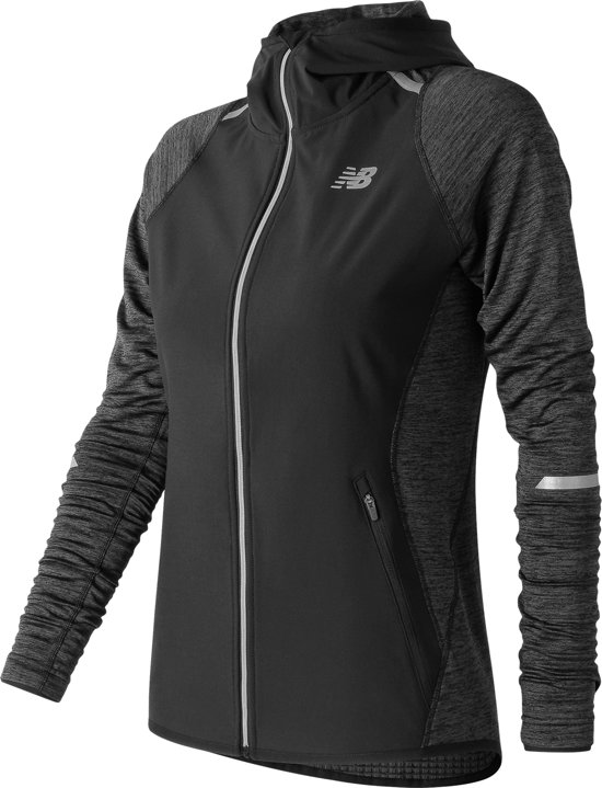 New Balance Heat Run Jacket - Hardloopjas - Dames - Black - Maat L