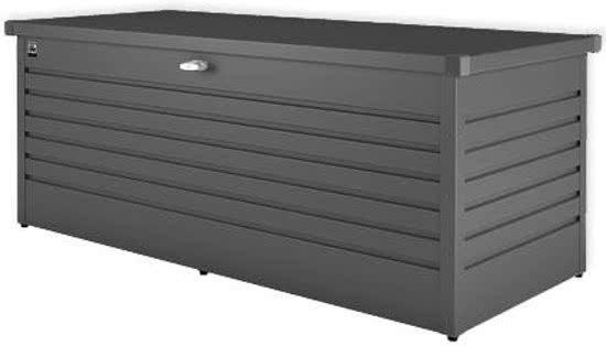 Biohort Opbergbox/Hobbybox 180 donkergrijs metallic - 181 x 79 x 71 cm