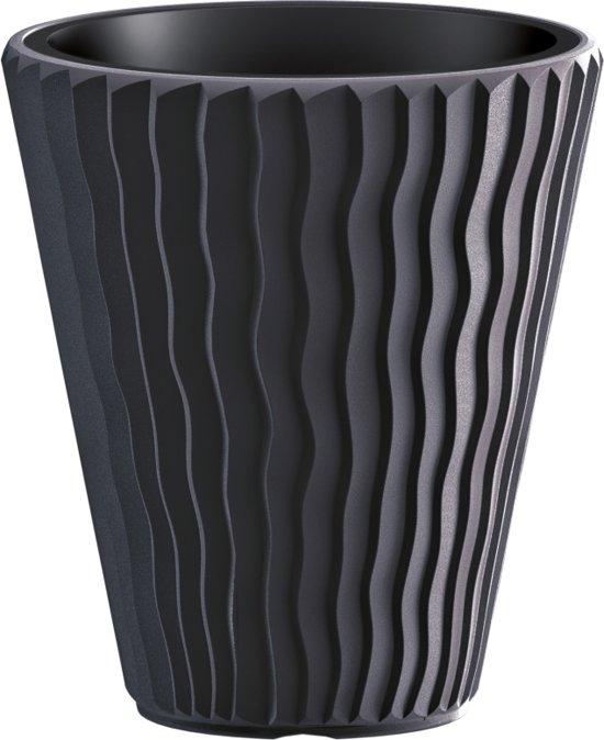 Bloempot Buiten Rond Sandy 30cm ANTRACIET Prosperplast