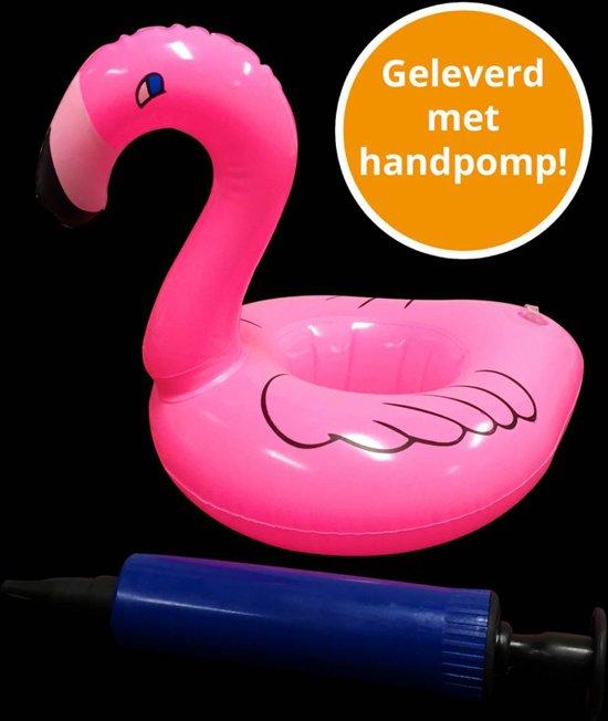 Opblaas flamingo bekerhouder, inflatables, met handpompjes - 240 stuks