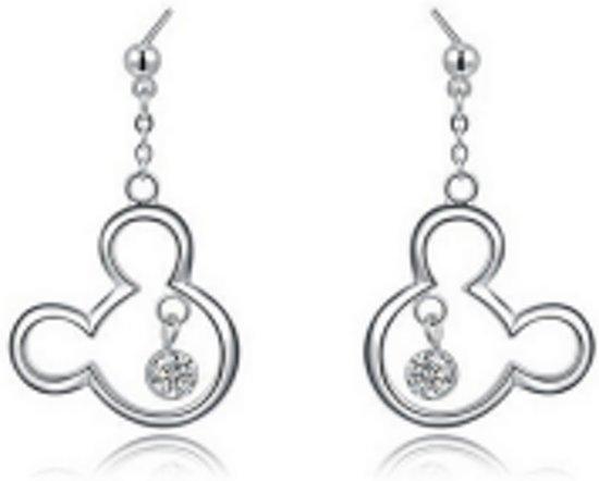 Charme Bijoux collectie® Oorbellen Mickey Mouse Platinumverguld