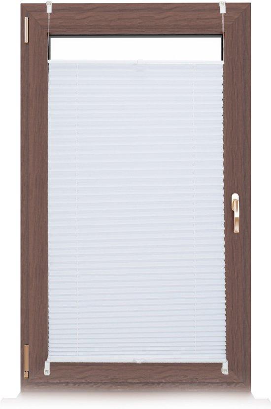relaxdays plissegordijn - plissé jaloezie wit - zonder boren - opvouwbaar - vers. maten 60x130cm
