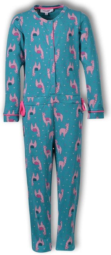 Woody onesie meisjes alpaca - print - 192-1-YOA-Z-977 - Maat 176