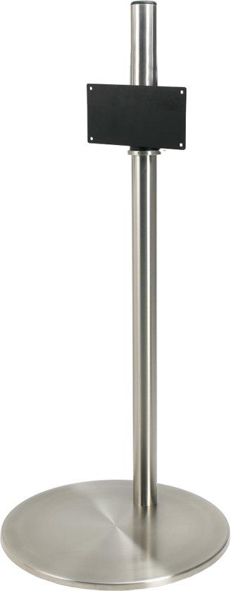 Cavus RVS vloerstandaard met RVS voet voor TV's tot 32 inch - 120 cm hoog