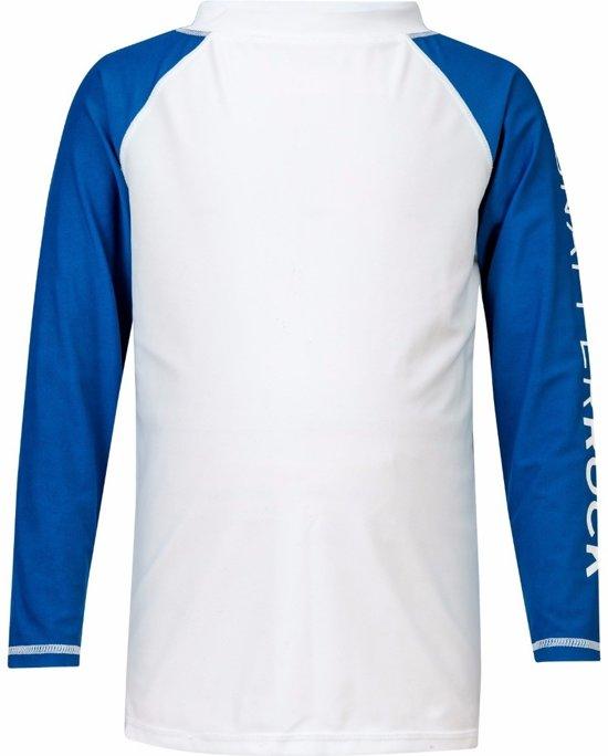 Snapper Rock - UV-shirt lange mouwen - Wit / Blauw