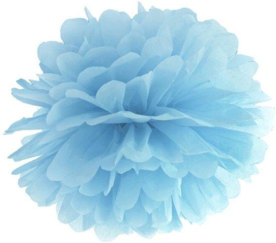 Pompon Lichtblauw 25cm