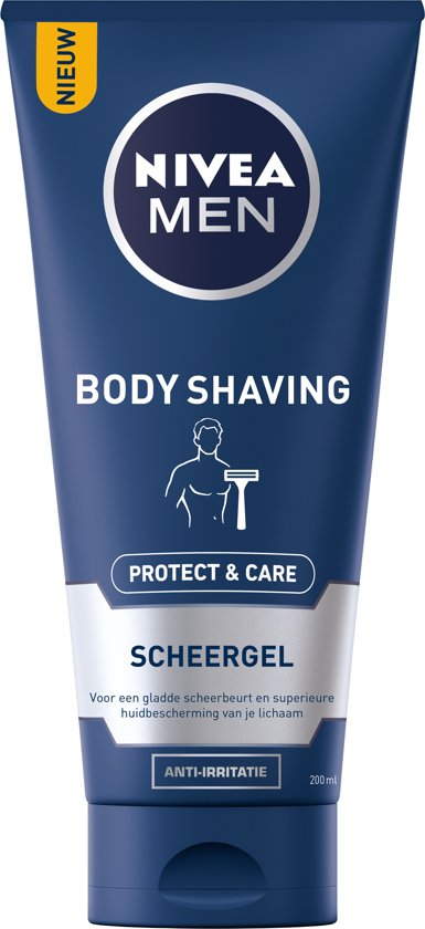 NIVEA MEN Body Shaving Protect & Care Scheergel - 200 ml