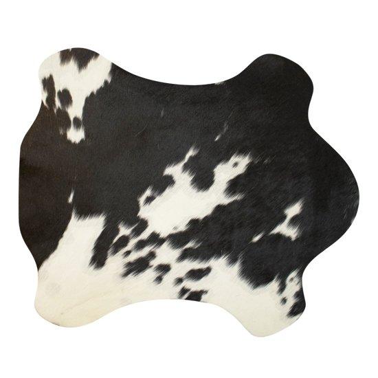 placemat koevorm zwart/wit 30x48cm