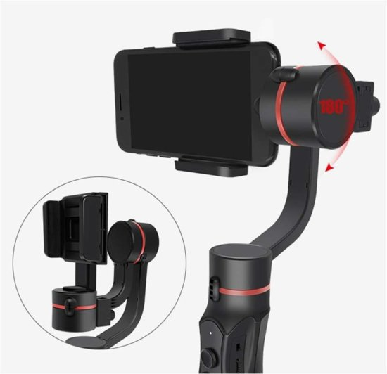 Bluetooth Smartphones/GoPro Selfiestick Stabilizer - zwart