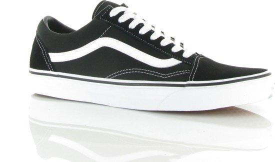 Old Zwart 44 Unisex Maat Vans 5 wit Sneakers Skool SRvUxqz