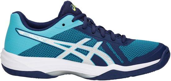 5302806118c Asics Gel-Tactic Indoorschoenen Dames Sportschoenen - Maat 42 - Vrouwen -  blauw/ wit